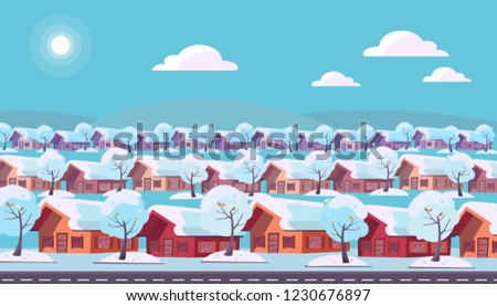 panoramic landscape of suburban