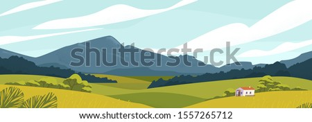 panoramic landscape with