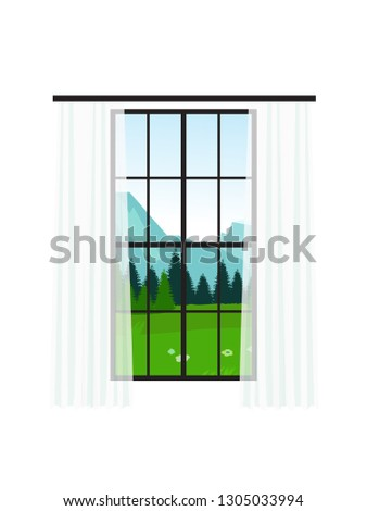 panoramic large window with