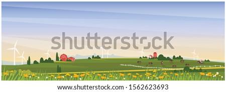 panoramic vector illustration