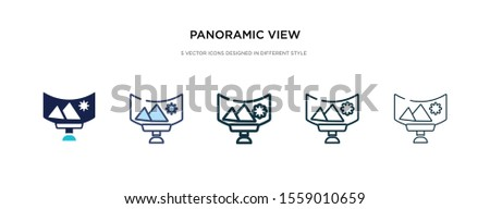 panoramic view icon in