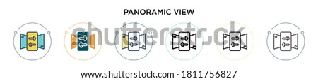 panoramic view icon in filled