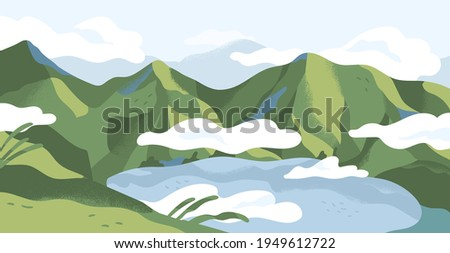 panoramic view of summer