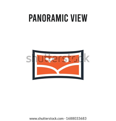 panoramic view vector icon on