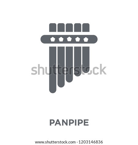 Panpipe icon. Panpipe design concept from Music collection. Simple element vector illustration on white background.