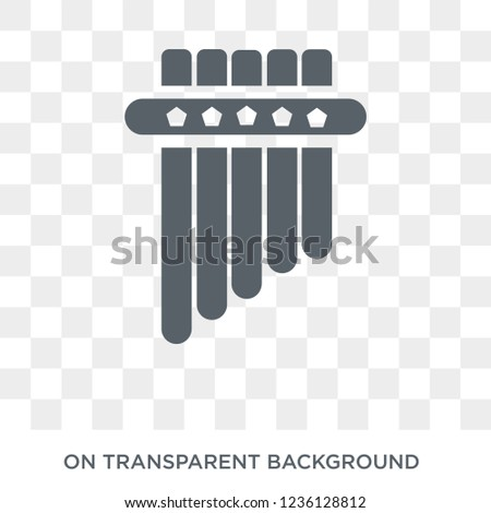 Panpipe icon. Panpipe design concept from Music collection. Simple element vector illustration on transparent background.