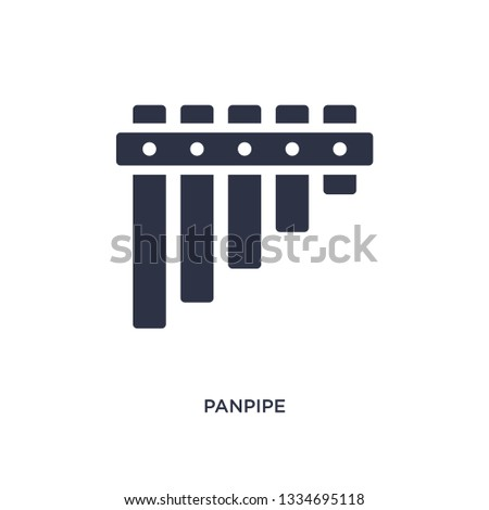 panpipe icon. Simple element illustration from music concept. panpipe editable symbol design on white background. Can be use for web and mobile.