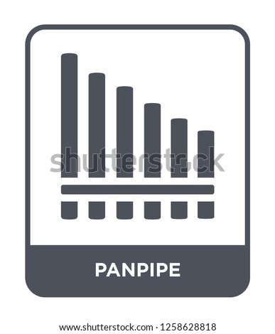 panpipe icon vector on white background, panpipe trendy filled icons from Music and media collection, panpipe simple element illustration