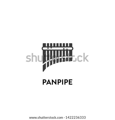 panpipe icon vector. panpipe vector graphic illustration