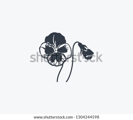 Pansy icon isolated on clean background. Pansy icon concept drawing icon in modern style. Vector illustration for your web mobile logo app UI design.