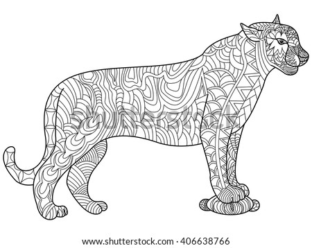 panther coloring book for
