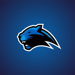 panther e sport esport gaming baseball football rugby poker logo badge emblem