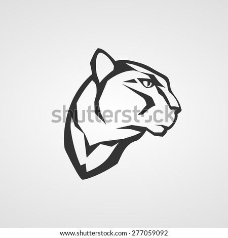 Panther head logo