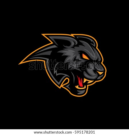 Panther head mascot.