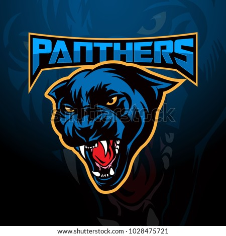 Panther head mascot logo