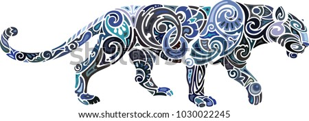 Panther, local colors, ornamentint
