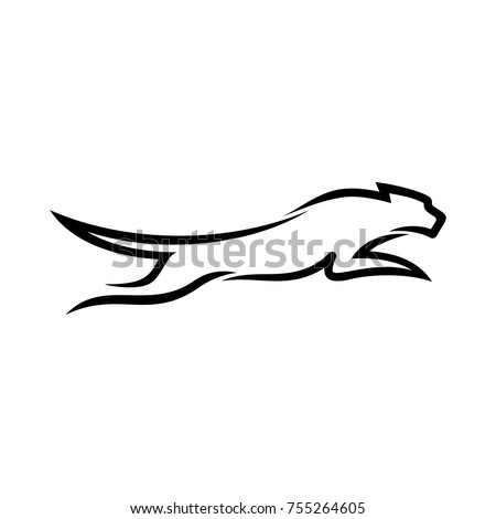panther or puma vector logo.