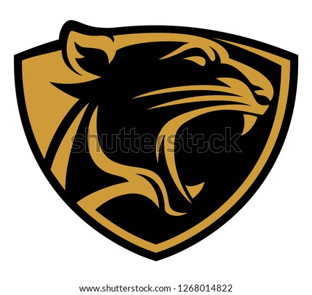 panther shield icon vector