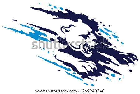 Panther splash ragged icon design vector