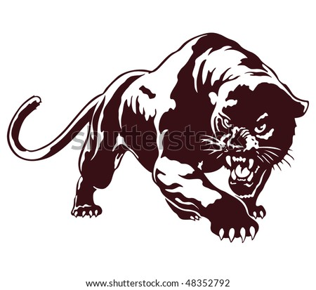 Panther tribal vector illustration