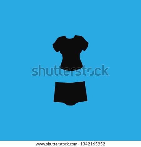 panties and t shirt icon vector