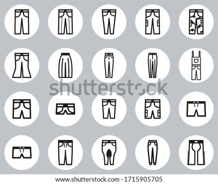 pants long   short icons black