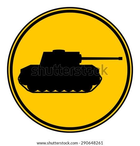 panzer button on white