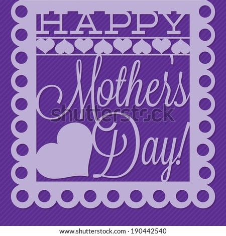 Papel picado Mother\'s Day card in vector format.
