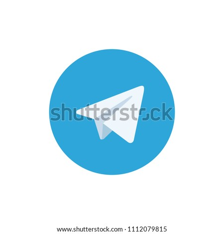 Paper airplane icons. Vector white paper planes. Telegram icon.