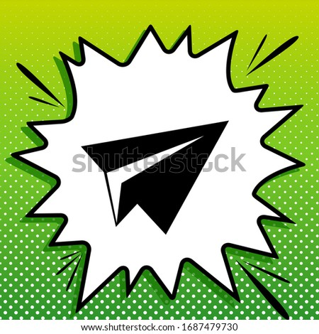 paper airplane sign black icon