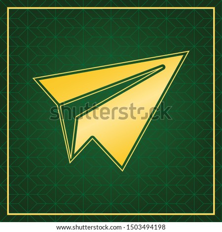 paper airplane sign golden
