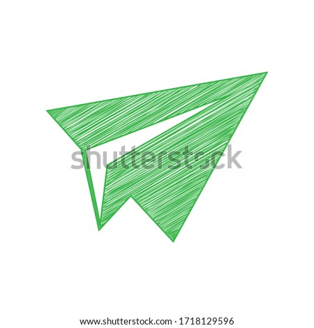 paper airplane sign green