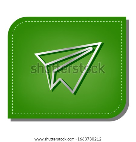 paper airplane sign silver