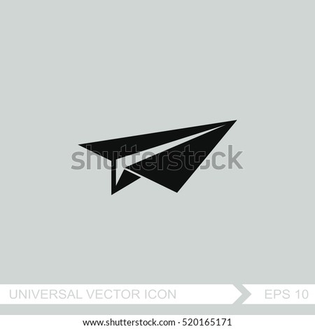 paper airplane vector icon