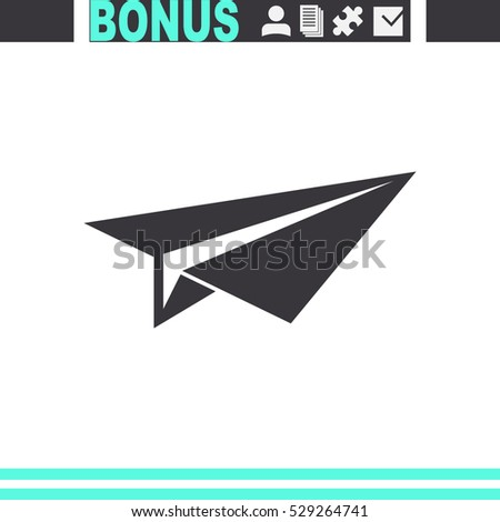 Shutterstock Paper airplane vector icon.