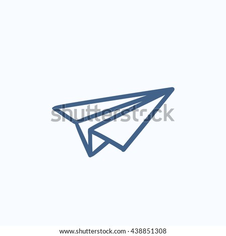 paper airplane vector sketch
