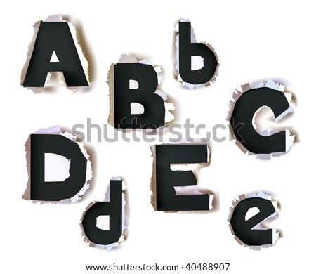 paper alphabet bold version