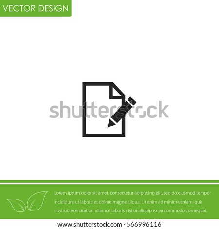 Paper And Pen  Vector Icon.