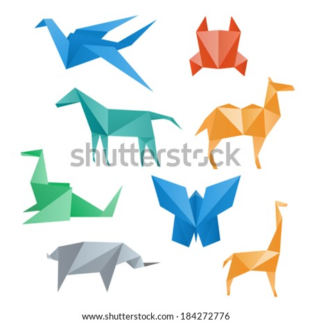 Paper Animals Wildlife Crane Horse Camel Crab Dragon Rhino