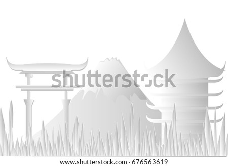 paper art of the landmark