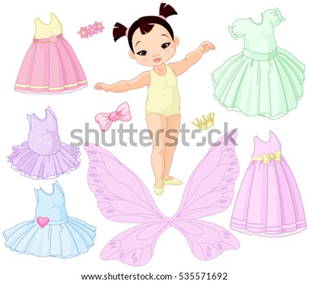 paper baby girl doll with
