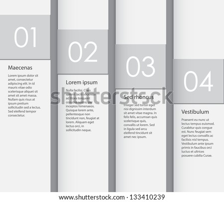 Paper background with four placeholders. EPS10 vector.