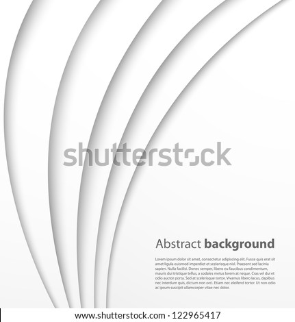 Paper background with shadow. Vector background
