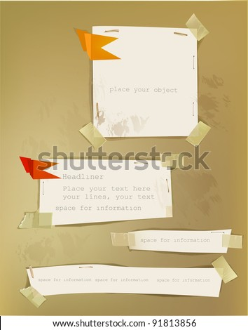 Paper backgrounds Vol.5 - stock vector