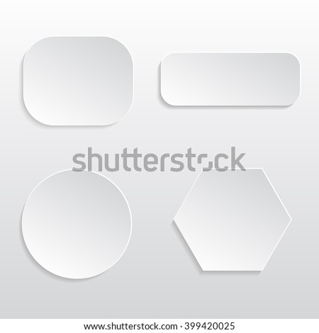 Paper badges - vector set #399420025