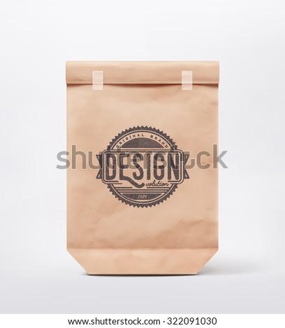 Paper bag for design, eps 10