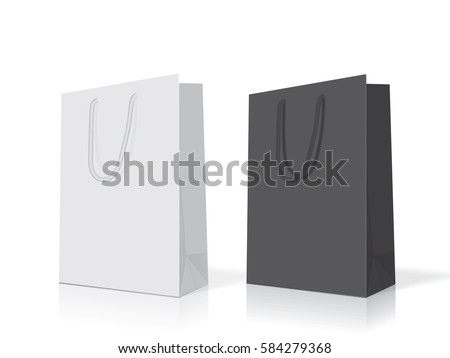 paper bag mock up vector template