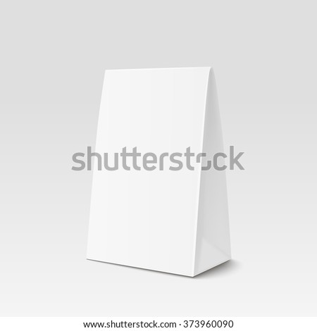 Paper Bag Package for advertising and branding. A-form Paper Bag. Paper bag triangular shape