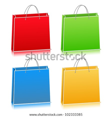 Paper Bags, vector eps10 illustration