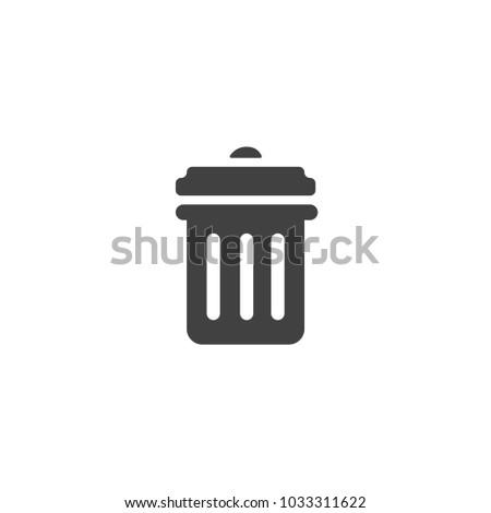 paper basket or trash bin icon